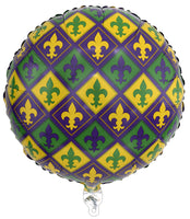 Mardi Gras Balloon Mylar 18in