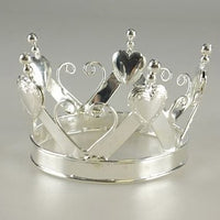 Mini Crown w/ Hearts Silver