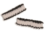 Garter/Arm Bands Black/White