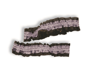 Garter/Arm Bands Silver/Black