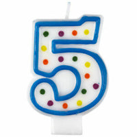 5 Polka Dots Birthday Candle