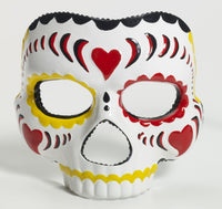 Day of the Dead Mask Red/Yello