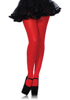 Nylon Tights One Size Red