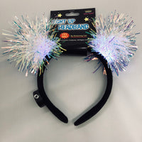 Iridescent LightUp PomPom Band