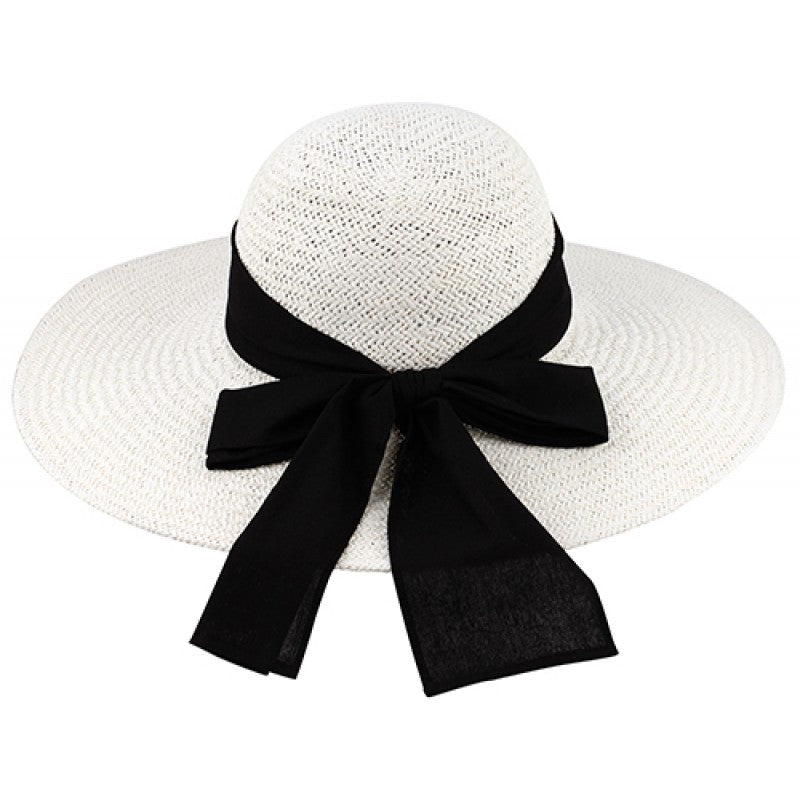 014ad482ab4 White Raffia Hat w  Scarf Band