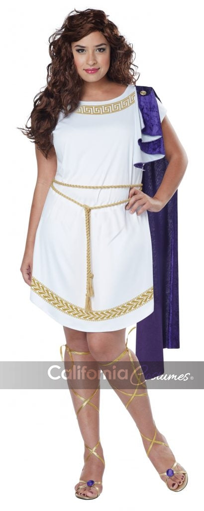 Grecian Toga Dress Plus