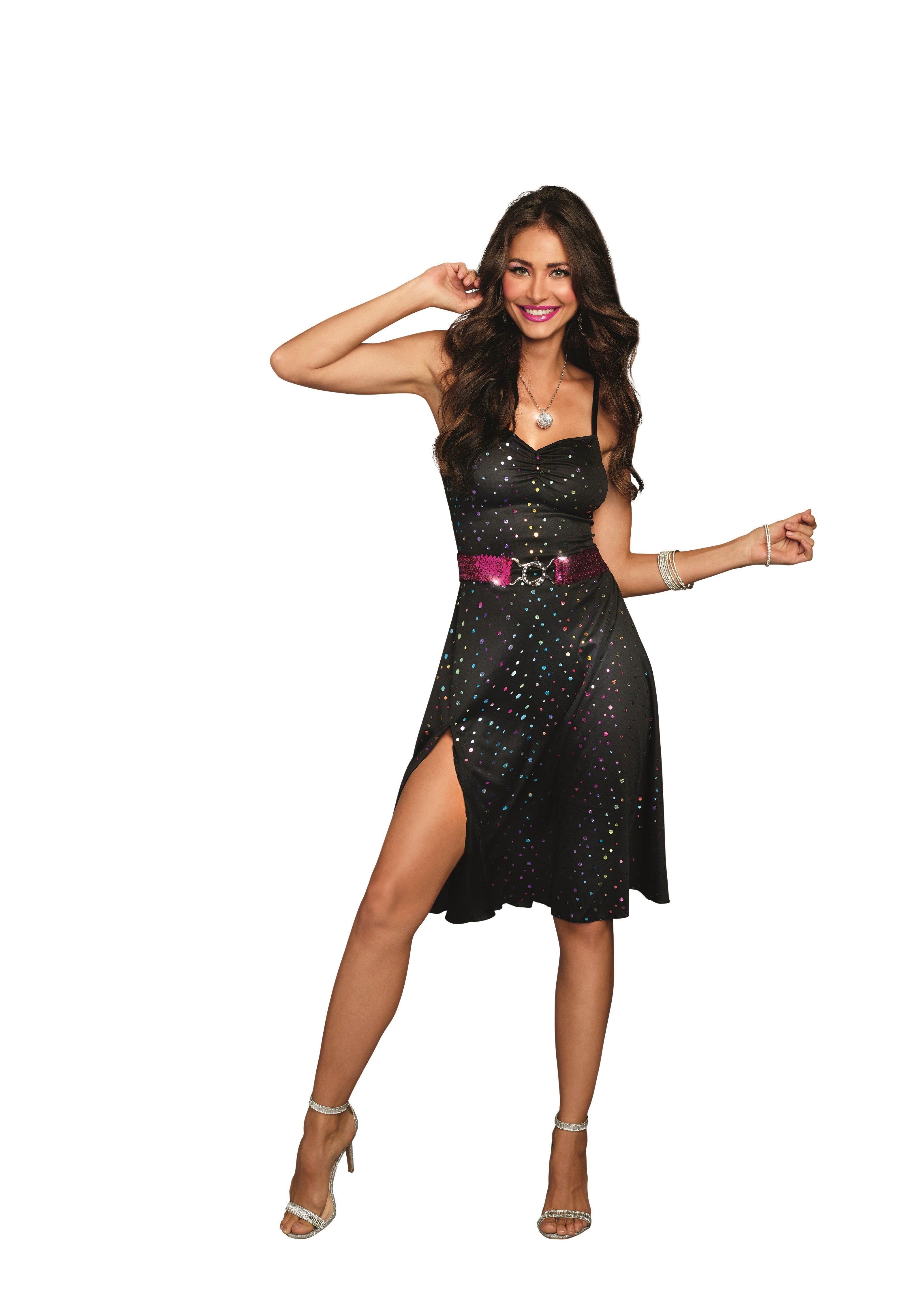 Girls Hologram Disco Diva Costume by Charades