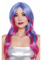 Purple & Hot Pink Layered Wig