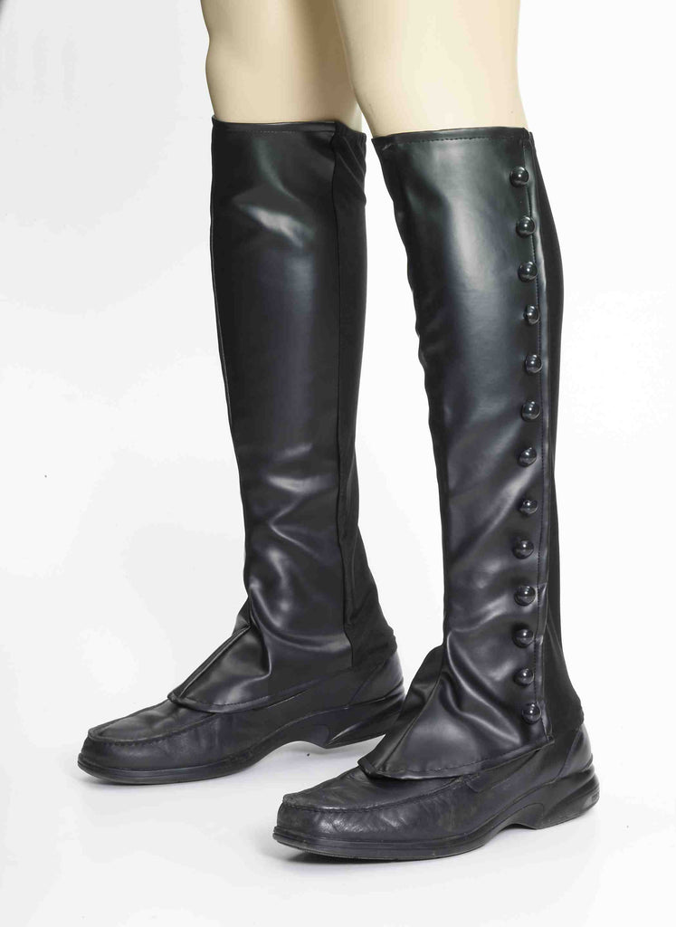 Black Boot Spats Adult-O/S