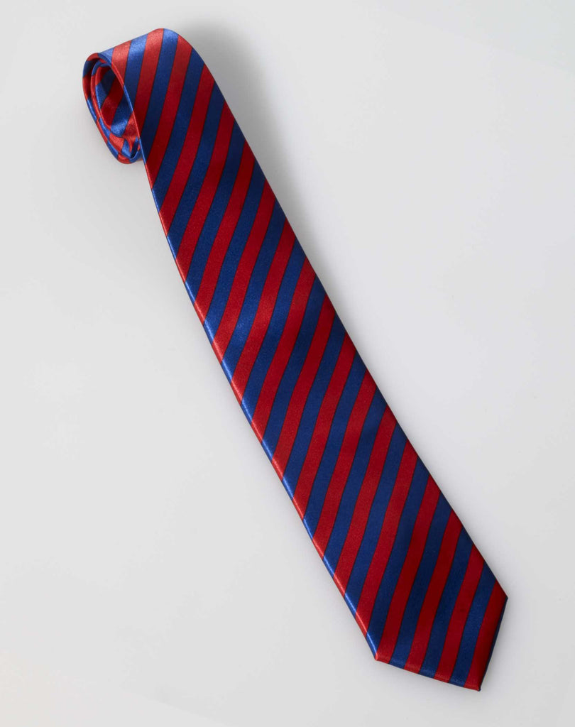 Roaring 20's Long Tie Red/Blue