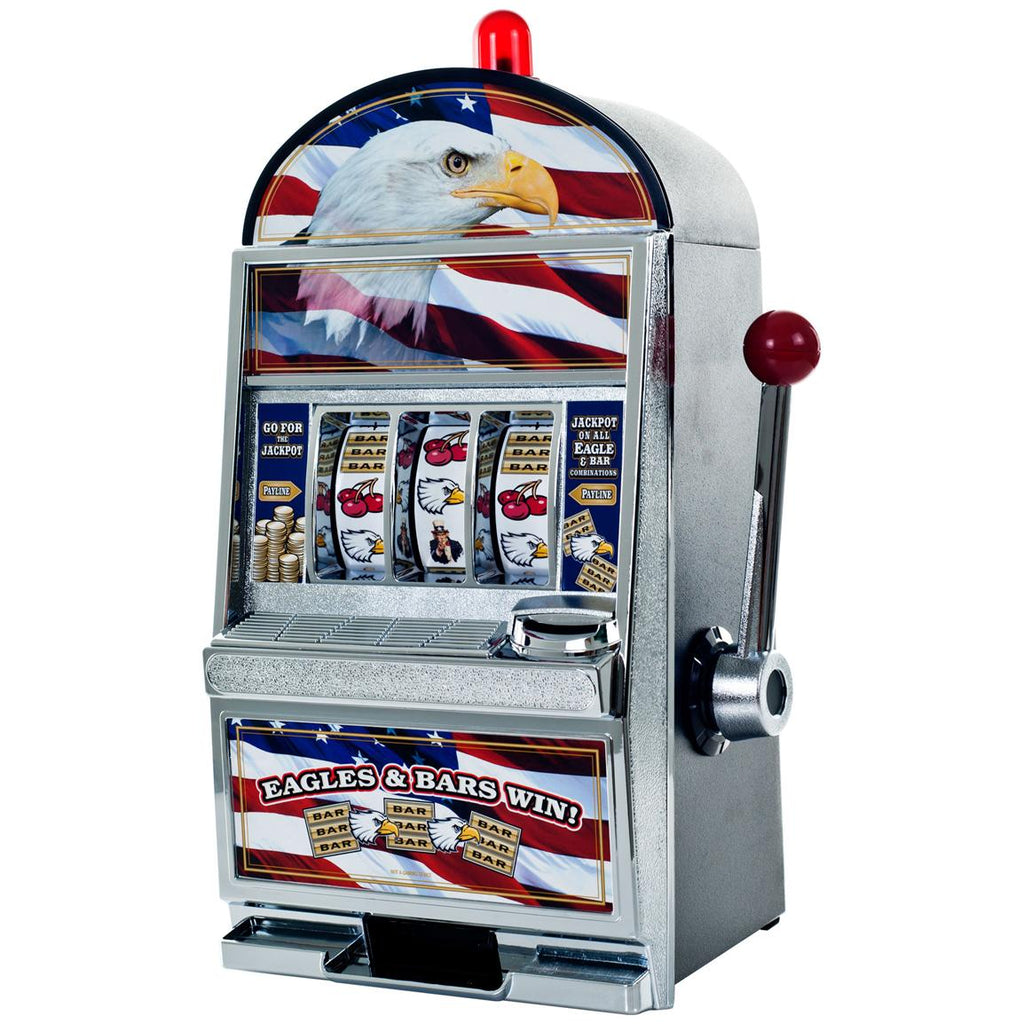 Eagle Slot Machine Coin Bank