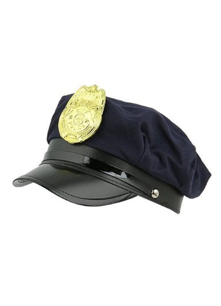 Cop Hat- Blue w/Badge