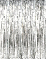 Silver Foil Party Fringe Pnl