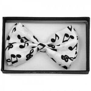 White/Black Music Notes Bowtie