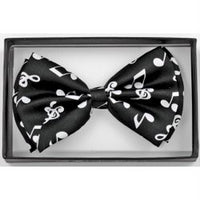 Black/White Music Notes Bowtie