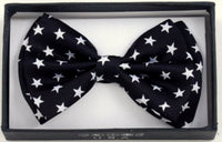 Black/White Star Bowtie