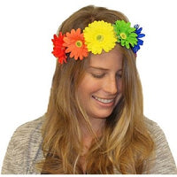 Rainbow Daisies Headband