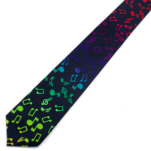 Multicolor Music Notes Tie