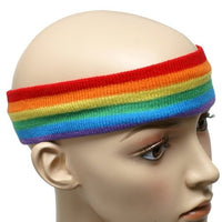 Rainbow Print Head Band