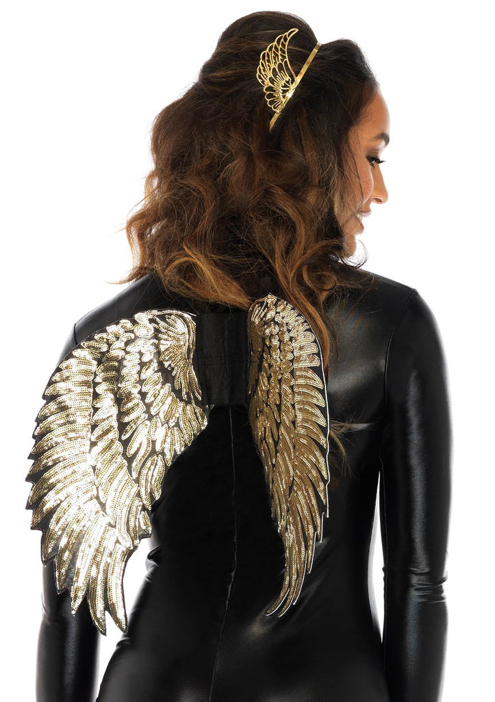 Gold Sequin Wings