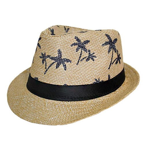 Woven Palm Tree Fedora  db990bc9a3c