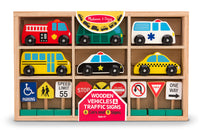 Wood Vehicles and Traffic Sign
