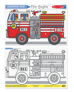 Color-A-Mat Fire Engine