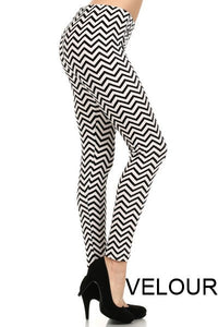 Velour Printed Leggings