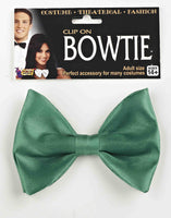 Green Clip On Bow Tie