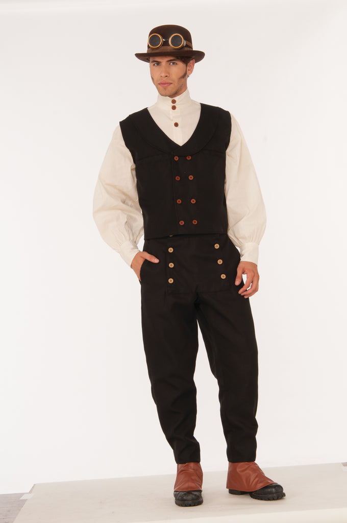 Steampunk Vest Black-O/S