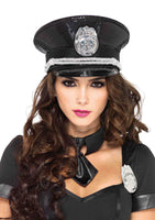 Sequin Cop Hat Adult