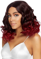 "18"" Curly Ombre Wig Burgundy"