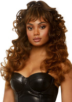 Long Wispy Bang WIg Brown