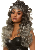 Long Wispy Bang WIg Grey
