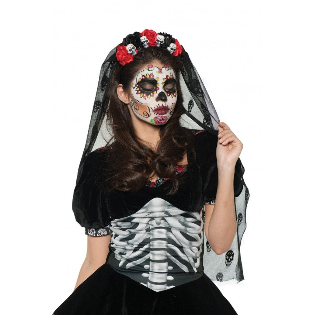 Day of the Dead Headpiece/Veil