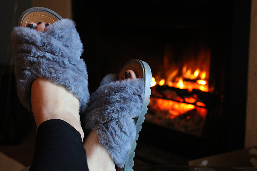 Sandane Faux Fur Slides