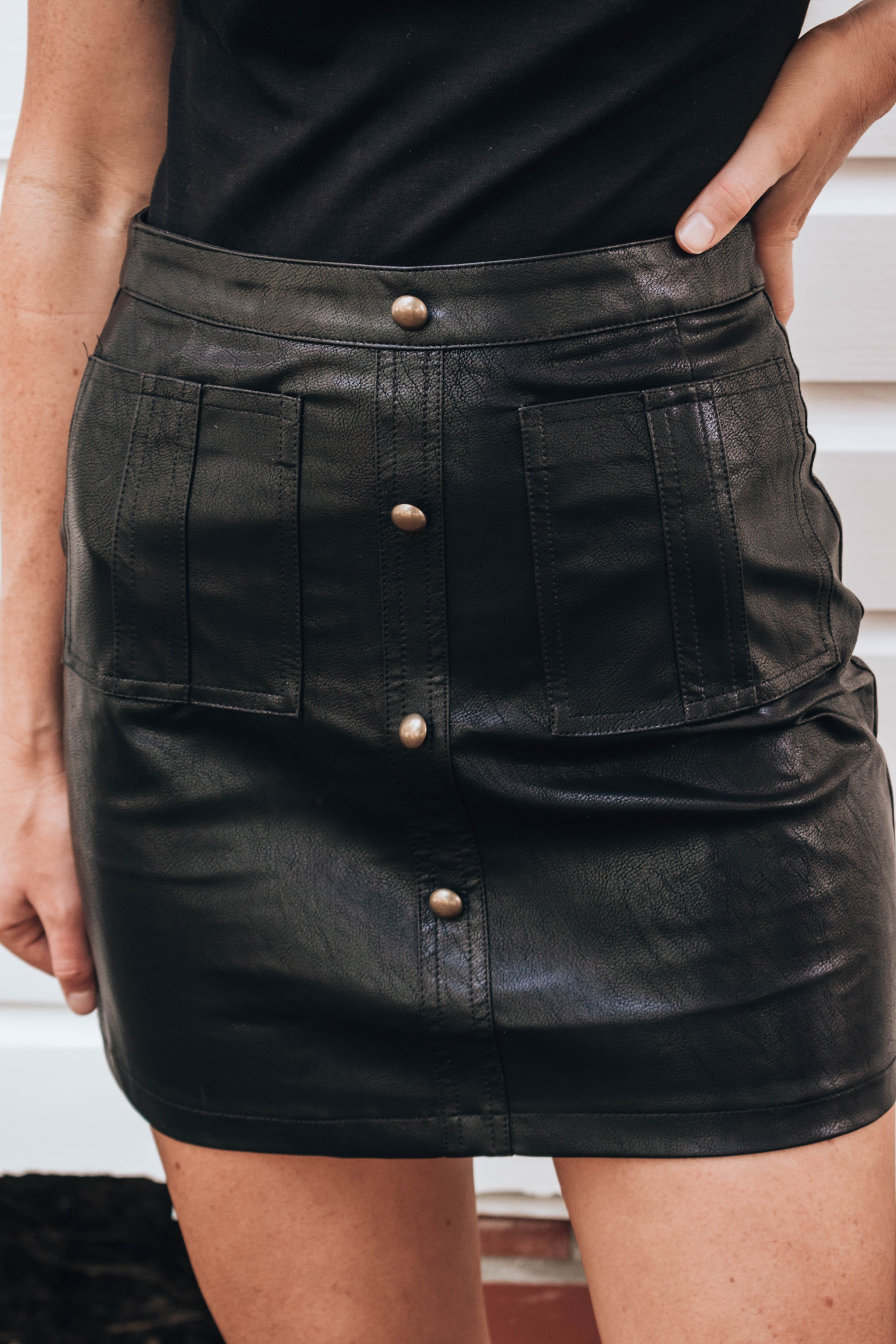 Quincy Faux Leather Mini Skirt