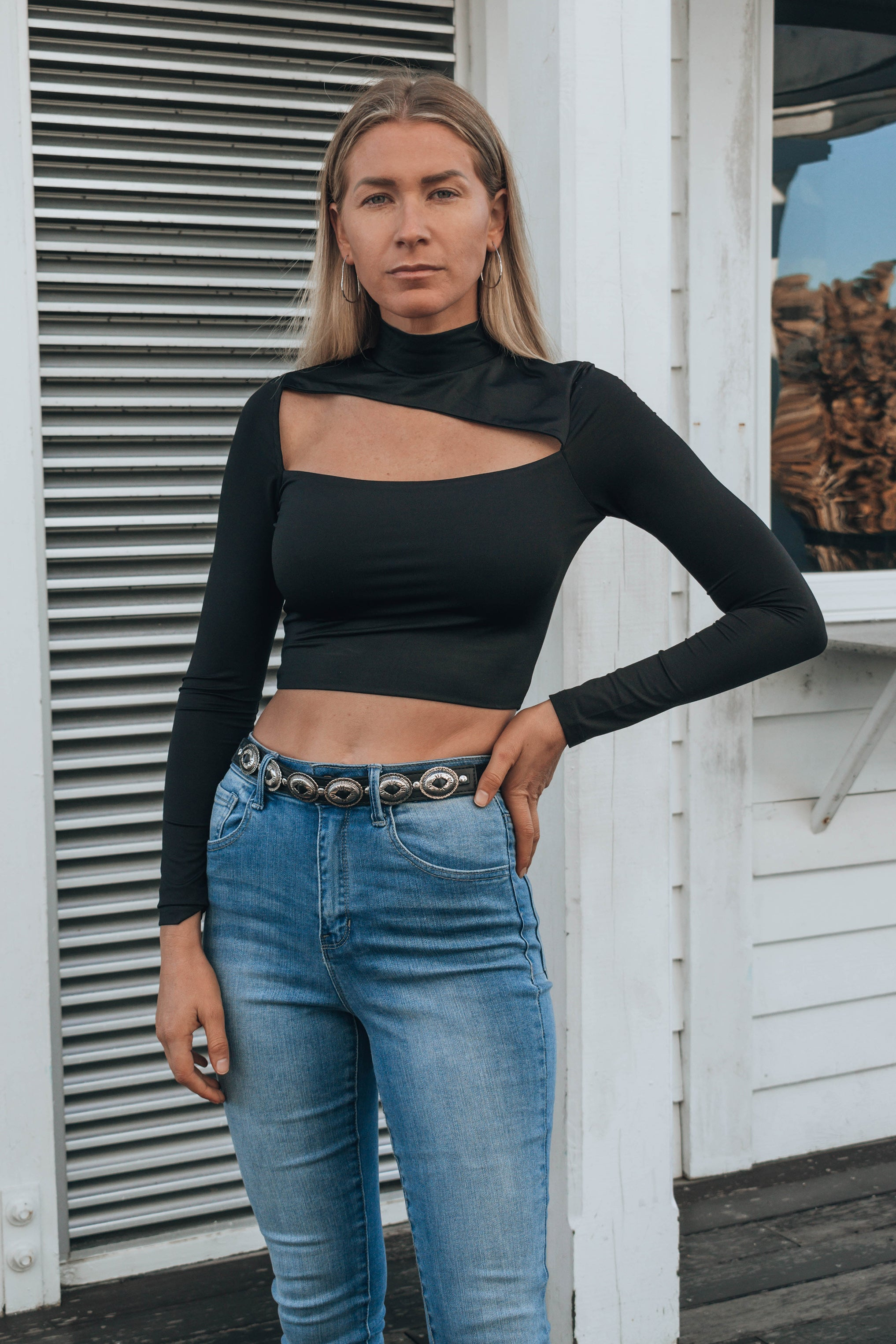 Andres Mock Neck Top