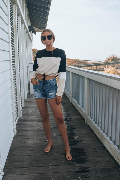 Costa Mid Rise Denim Shorts