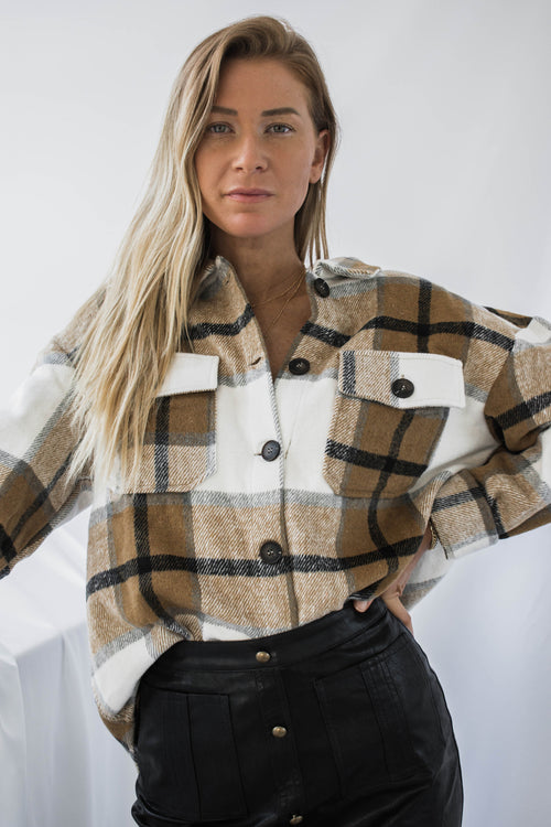 Loa Plaid Button Down Jacket