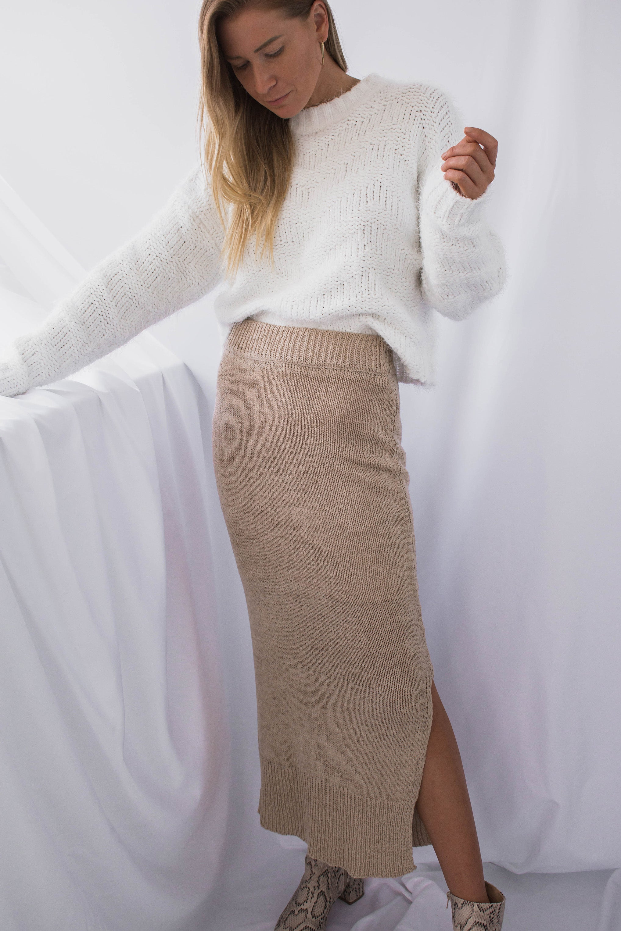 Edgemont Knit Midi Skirt