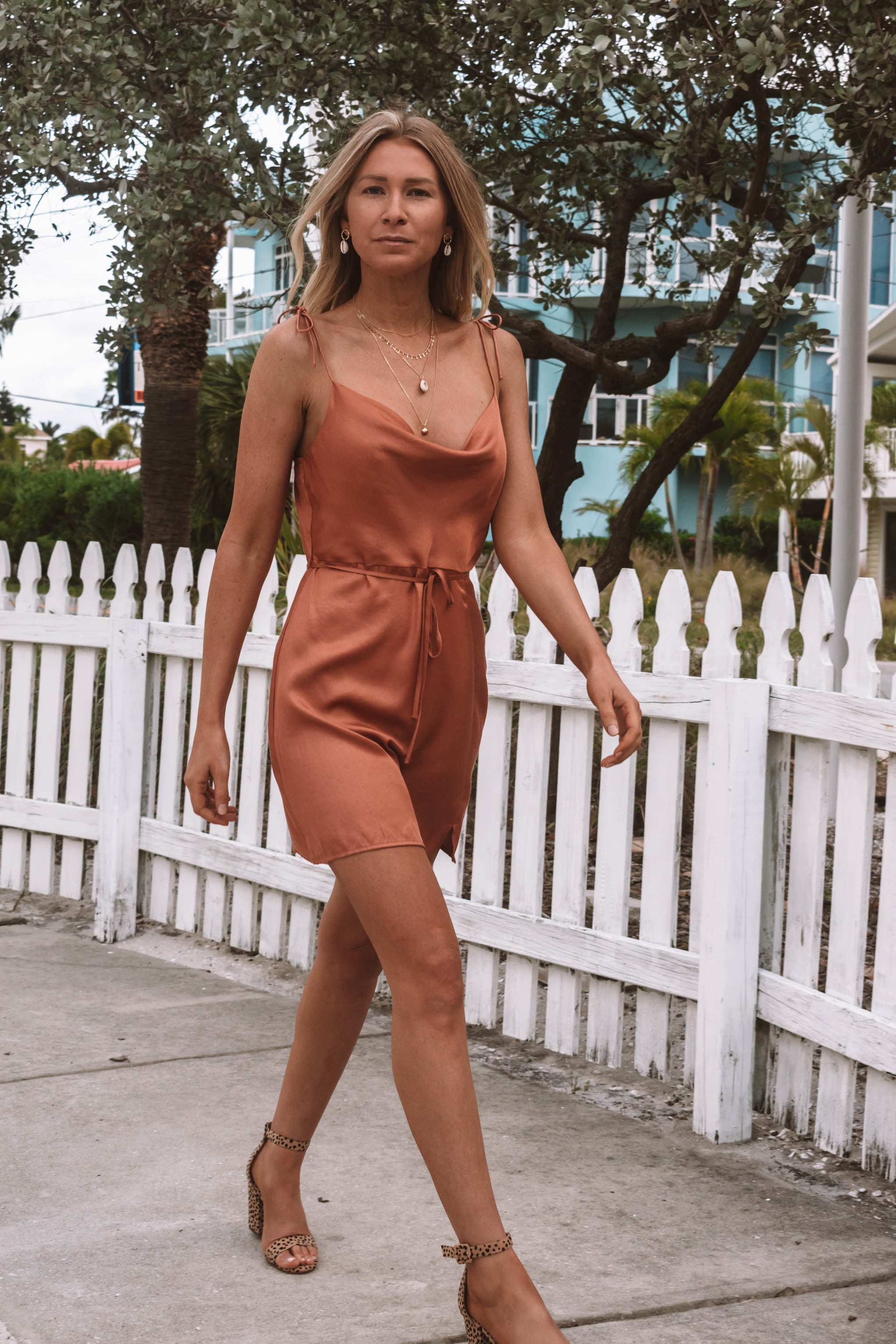 Luz Cowl Neck Mini Dress