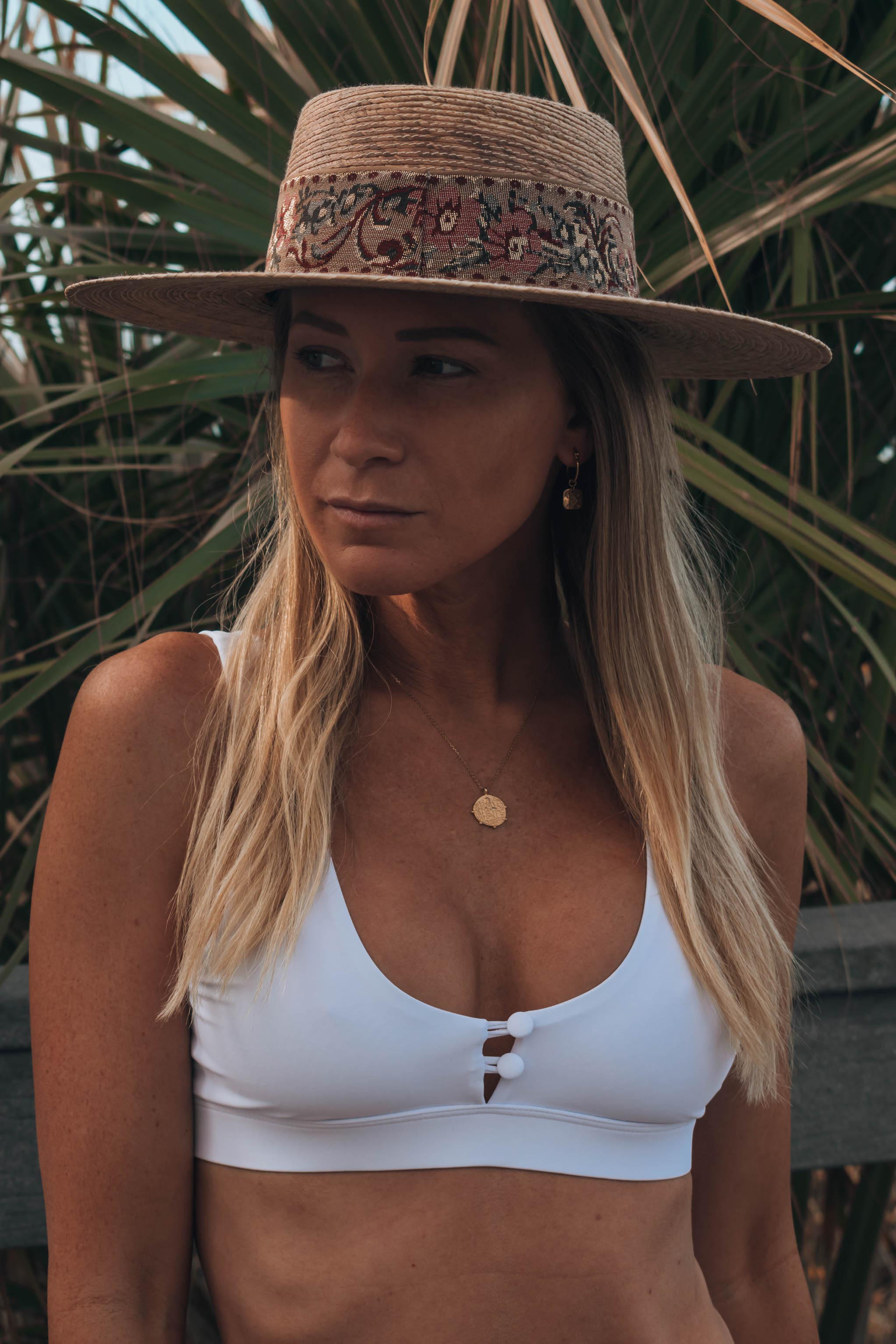 Palm Leaf Boater Hat