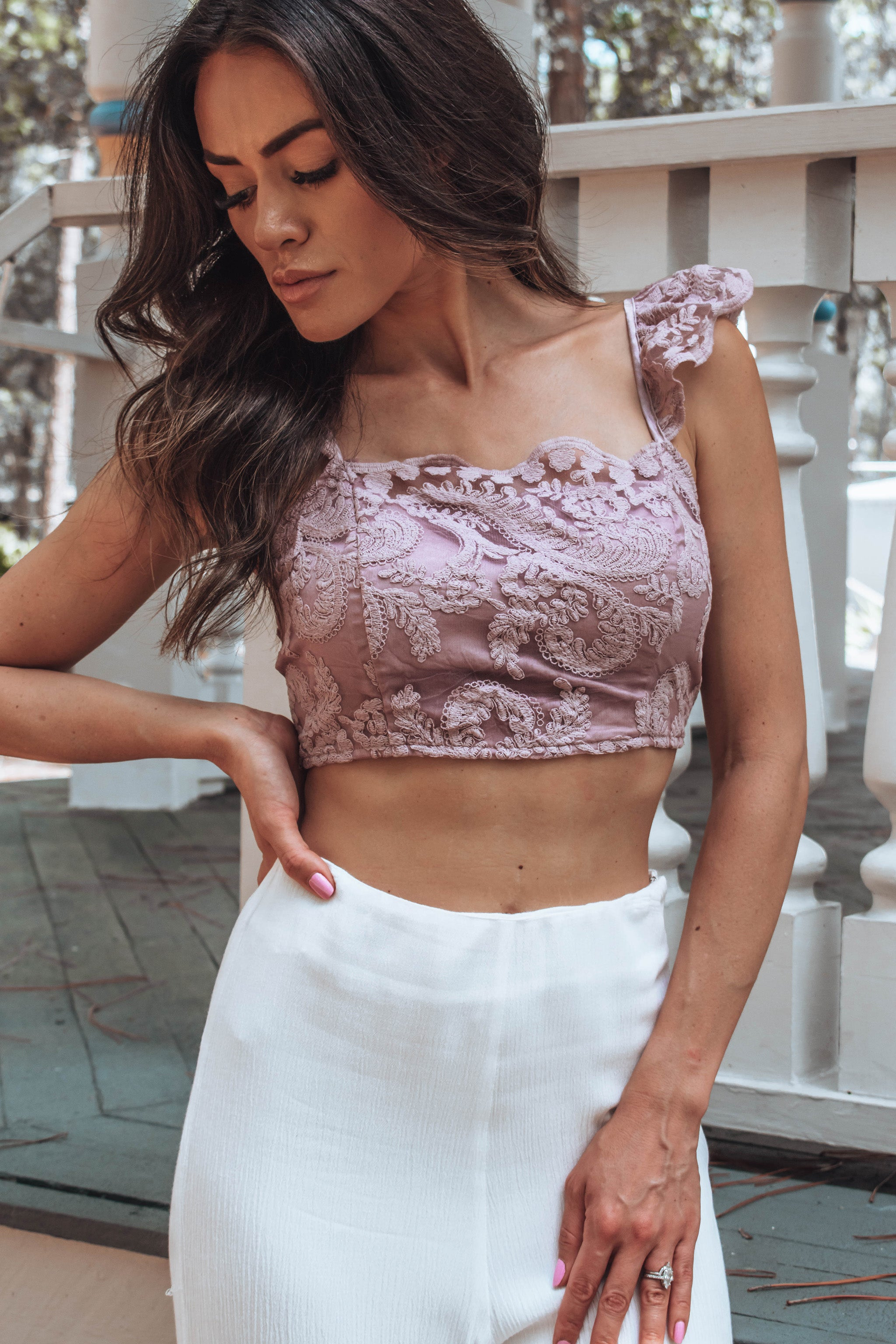 Lynn Lace Crop Top