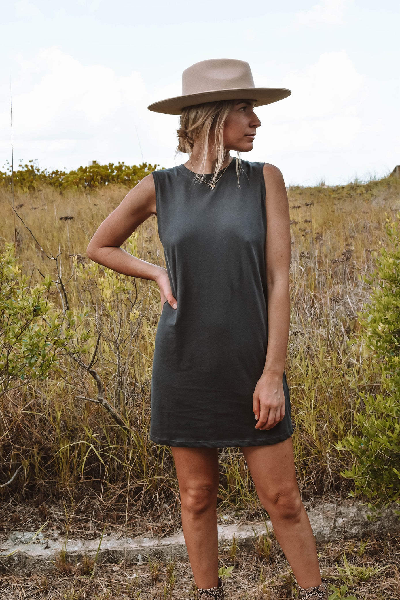 Caswell Cutoff T-Shirt Dress