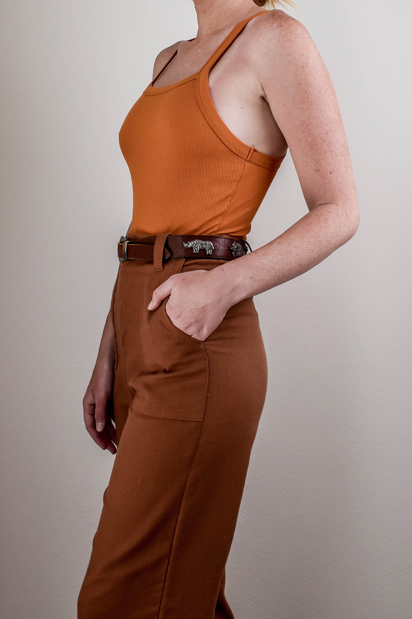 Clifton Ribbed Bodysuit - Orange
