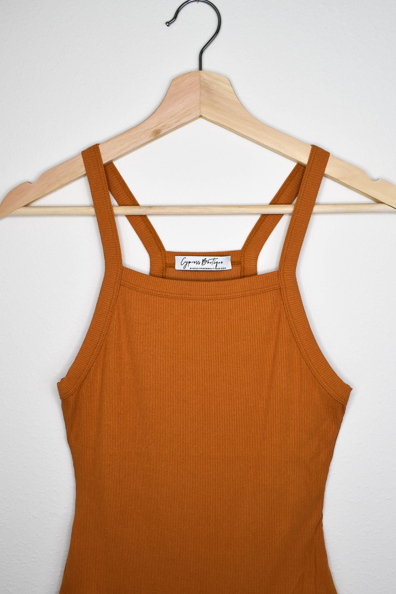 Clifton Ribbed Bodysuit - Pumpkin Spice