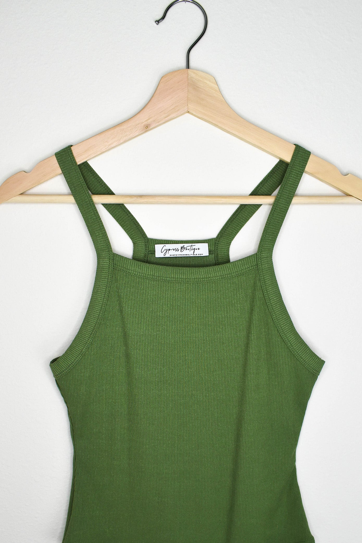 Clifton Ribbed Bodysuit - Olive