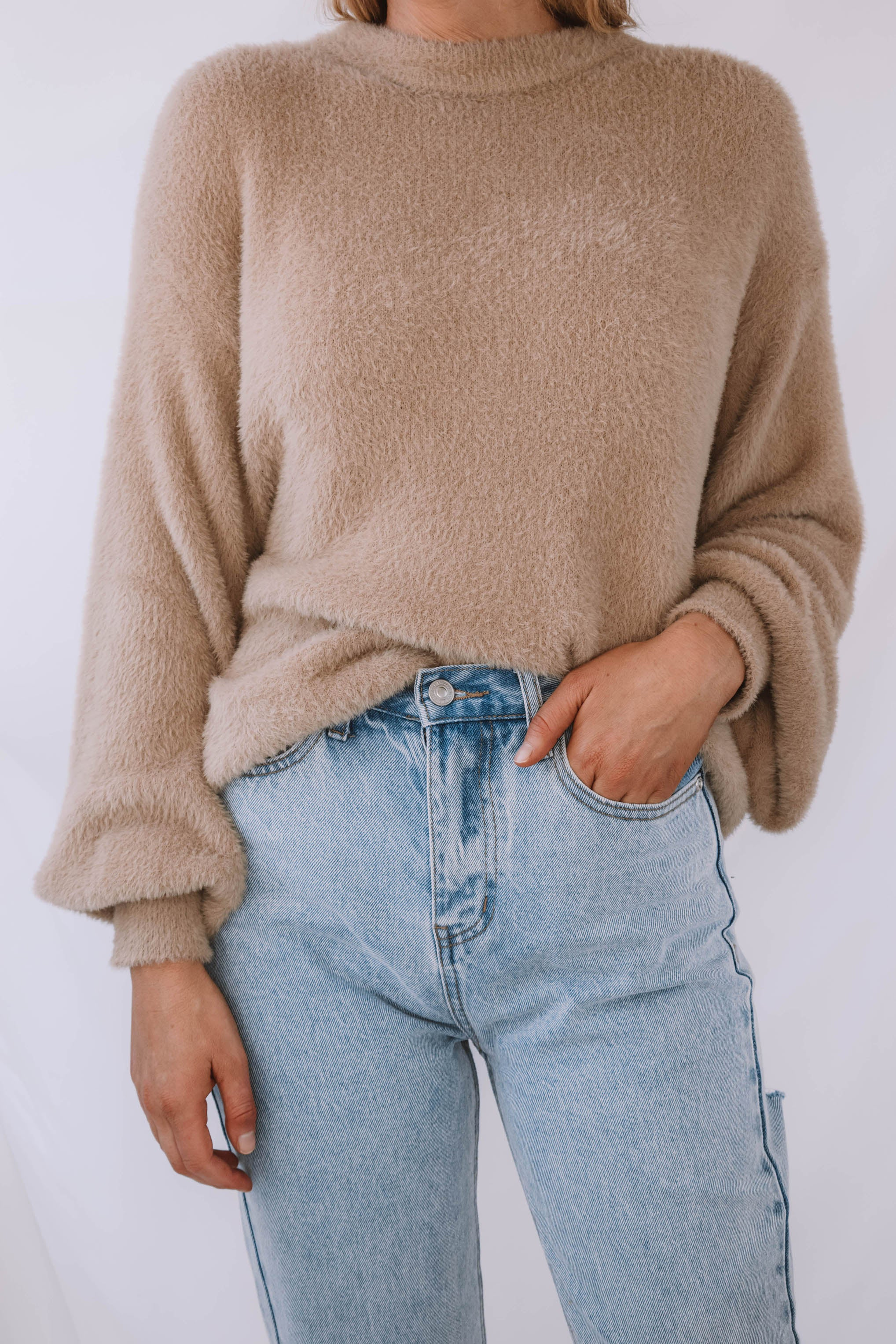 Whitehall Fuzzy Crewneck Sweater