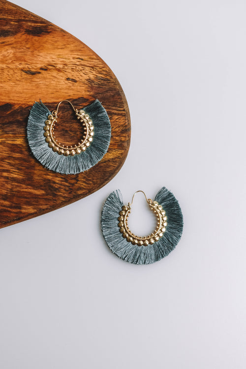 Circular Fan Earring